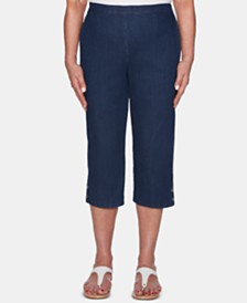 Alfred Dunner Smooth Sailing Cuff Denim Capri