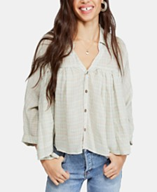 Free People Rainbow Picnic Plaid Shirt
