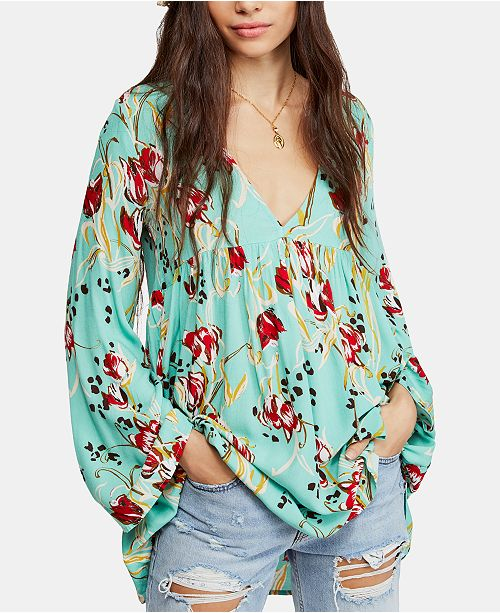 Free People Bella Printed Tunic Reviews Tops Women