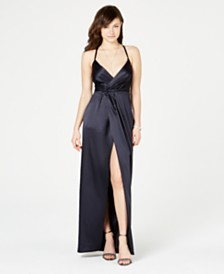 Laundry by Shelli Segal Front-Slit Gown