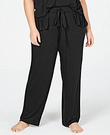 INC Ultra Soft Plus Knit Ruching Pajama Pants, Created for Macy's
