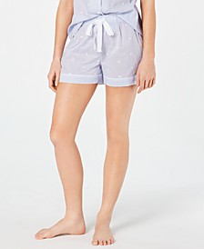 Woven Cotton Pajama Shorts, Created for Macy's 8151635