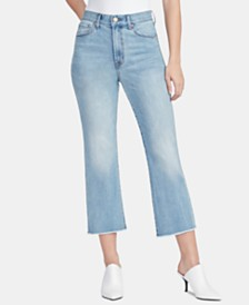 WILLIAM RAST Raw-Hem Flare-Leg Jeans