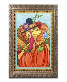 "Jennifer Nilsson Patchwork Turkey Ornate Framed Art - 16"" x 20"" x 0.5"""
