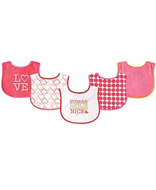 Drooler Bibs, 5-Pack, One Size