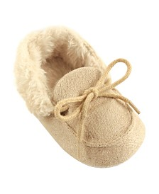Luvable Friends Cozy Moccasins, 0-18 Months