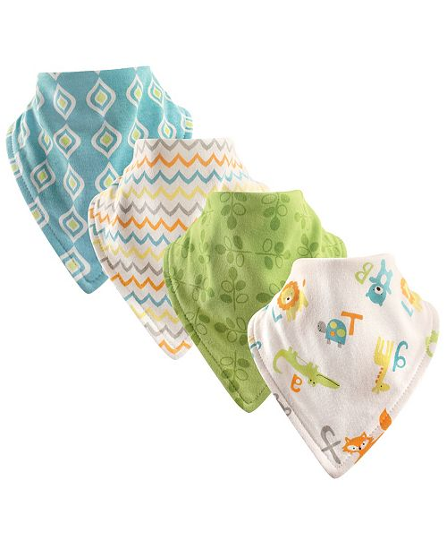 Luvable Friends Bandana Bibs, 4-Pack, One Size