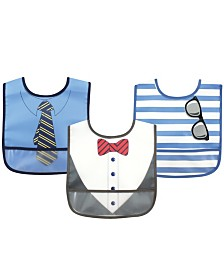 Luvable Friends Waterproof Bibs, 3-Pack, One Size
