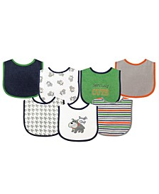 Drooler Bibs with Waterproof Back, 7-Pack, Tough Guy, One Size