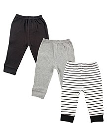 Baby Tapered Ankle Pants, 3-Pack, 0-24 Months