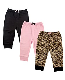 Luvable Friends Baby Tapered Ankle Pants, 3-Pack, 0-24 Months