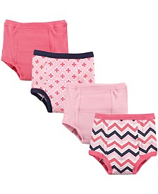 Luvable Friends Toddler Water Resistant Training Pants, 4-Pack, Girl Chevron, 12 Months-4T