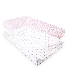 Luvable Friends Changing Pad Cover, 2-Pack, One Size