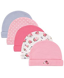 Caps, 5-Pack, 0-6 Months