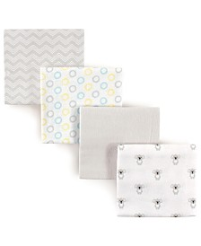 Luvable Friends Flannel Receiving Blankets, 4-Pack, One Size