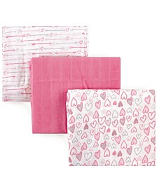 Muslin Swaddle Blanket, 3-Pack, One Size
