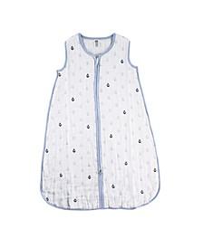 Muslin Wearable Safe Sleeping Bag Blanket, Sailboat, 0-24 Months