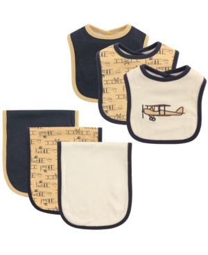 Hudson Baby Bibs and Burp Cloth, 6-Piece Set, One Size