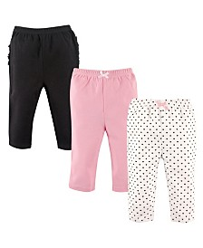 Hudson Baby Pants with Ruffles, 3-Pack, 0-24 Months