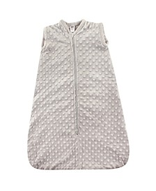 Safe Sleep Wearable Dotted Mink Plush Sleeping Bag, 0-24 Months