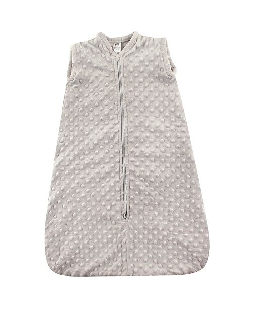Hudson Baby Safe Sleep Wearable Dotted Mink Plush Sleeping Bag, 0-24 Months