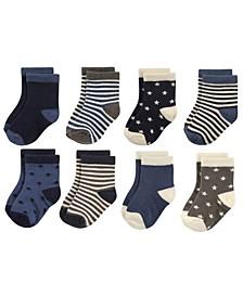 Baby Crew Socks, 8-Pack, 2T-4T