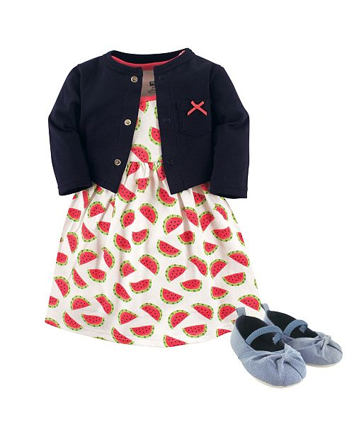 23e96ecc1 ... Baby Vision Hudson Baby Dress, Cardigan and Shoes, 3-Piece Set, 0 ...