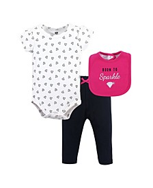 Bodysuits, Pants and Bibs Set, 0-12 Months
