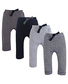 Touched By Nature Organic Harem Pants, 4-Pack,0-24 Months