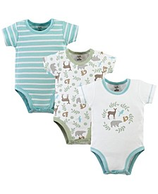 Organic Cotton Bodysuits, 3-Pack, 0-24 Months