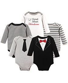 Little Treasure Long-Sleeve Bodysuits, 5-Pack, 0-24 Months