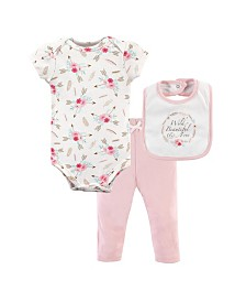 Little Treasure Bodysuits, Pants and Bibs Set, 0-9 Months