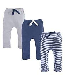 Organic Cotton Pants, 3-Pack, 0-24 Months