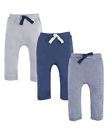 Touched By Nature Organic Cotton Pants, 3-Pack, 0-24 Months