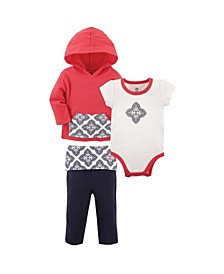 Baby Boys and Girls Hoodie, Bodysuitor Tee Top, and Pant, Bear Baby