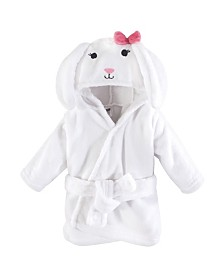 Hudson Baby Soft Plush Baby Bathrobe, Bunny, 0-9 Months