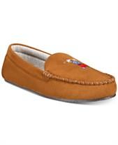 39d8cbd0e Polo Ralph Lauren Men's Microsuede Golf Bear Slippers