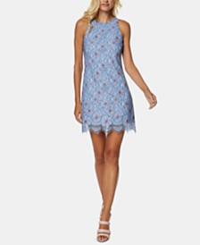 Avec Les Filles Floral Lace Sheath Dress