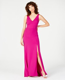 Jump Juniors' X-Back Crepe Slit Gown