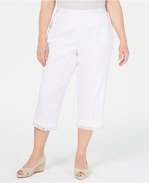Alfred Dunner Plus Size Smooth Sailing Capri Pants