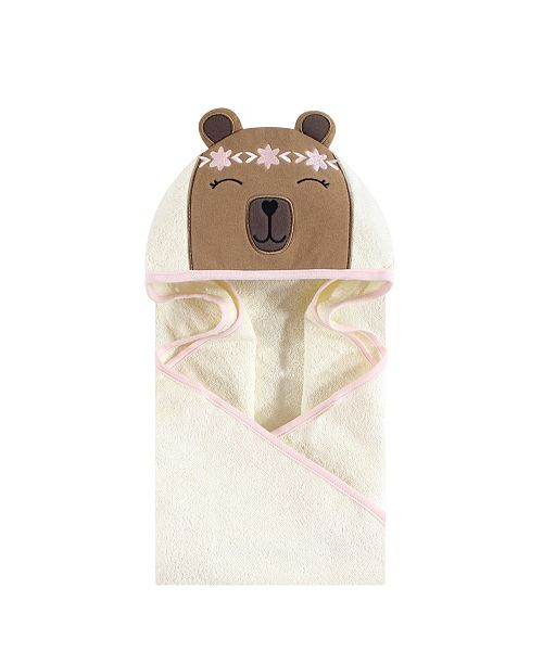 Baby Vision Hudson Baby Unisex Baby Animal Face Hooded Towel, Boho Bear 1-Pack, One Size
