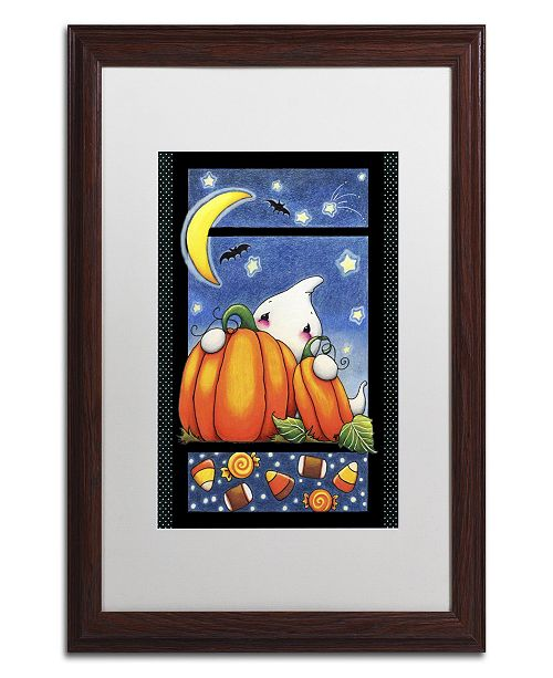 "Trademark Global Jennifer Nilsson Hiding Ghost Matted Framed Art - 11"" x 14"" x 0.5"""