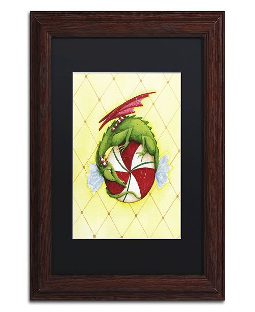 "Trademark Global Jennifer Nilsson Peppermint Twist Dragon Matted Framed Art - 16"" x 20"" x 0.5"""