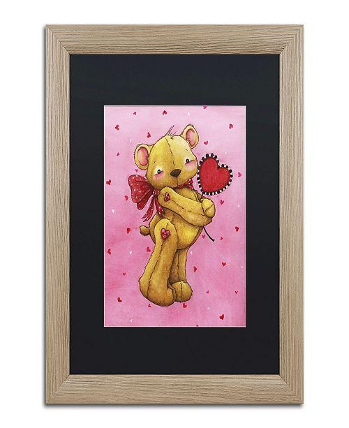 "Trademark Global Jennifer Nilsson Sweetheart Bear Matted Framed Art - 16"" x 20"" x 0.5"""