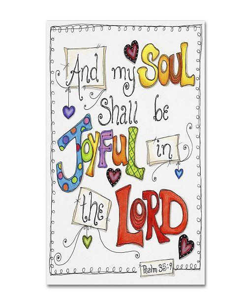 "Trademark Global Jennifer Nilsson Words of Joy - Joyful Soul Canvas Art - 11"" x 14"" x 0.5"""