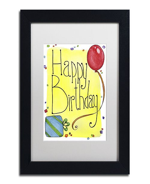 "Trademark Global Jennifer Nilsson Happy Birthday Matted Framed Art - 11"" x 14"" x 0.5"""