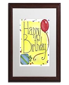 "Jennifer Nilsson Happy Birthday Matted Framed Art - 35"" x 47"" x 2"""