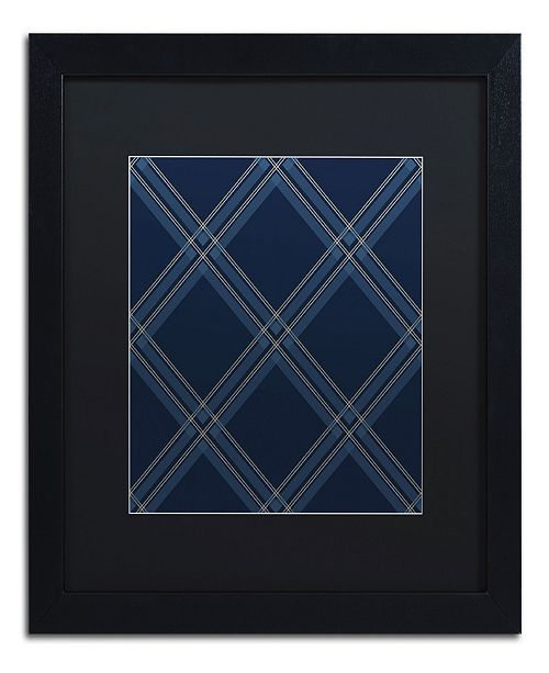 "Trademark Global Jennifer Nilsson Dk Blue Diamond Matted Framed Art - 18"" x 24"" x 2"""