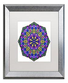 "Kathy G. Ahrens Sublime Sunshine Mandala Matted Framed Art - 24"" x 24"" x 2"""