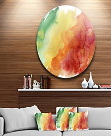 "Designart 'Color Explosion' Abstract Circle Metal Wall Art - 23"" x 23"""